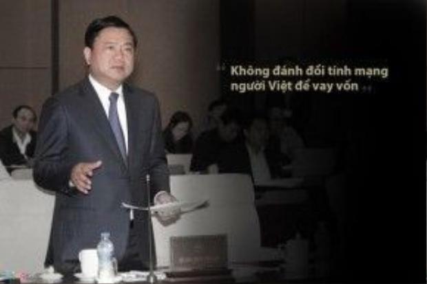 Ông Đinh La Thăng phát biểu trong cuộc họp với Tổng thầu EPC dự án đường sắt trên cao Cát Linh - Hà Đông (Công ty Hữu hạn Tập đoàn Cục 6 đường sắt Trung Quốc) tháng 1/2015 về sự cố sập giàn giáo tại dự án đường sắt trên cao.