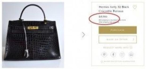 Chiếc túi Hermes Kelly là một item mà chân dài rất yêu thích và thường xuyên trưng dụng, item được bán với giá 15.500 USD ( khoảng 350 triệu đồng).