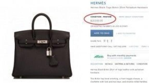 Nữ siêu mẫu sử dụng chiếc túi Hermes Black Togo Birkin khóa bạc với giá 20.550 USD ( khoảng 500 triệu đồng).