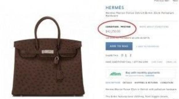 Chiếc túi Hermes da đà điểu của nữ diễn viên là một trong những mẫu túi xa xỉ bậc nhất của thương hiệu này, sản phẩm có giá 42.250 USD ( khoảng 950 triệu đồng).
