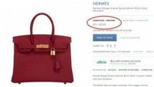 Nũ ca sĩ chọn Hermes Rouge Grenat Epsom Birkin màu đỏ quyến rũ, hot item có giá 21,100 USD ( khoảng 500 triệu đồng).