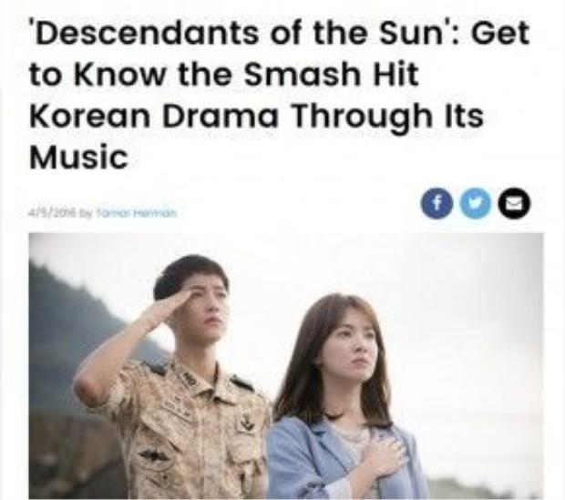 Billboard dành riêng một bài báo về OST phim.