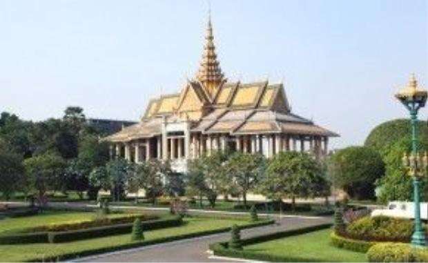 Một cung điện trong hoàng cung - nơi diễn ra các nghi lễ của nhà vua.