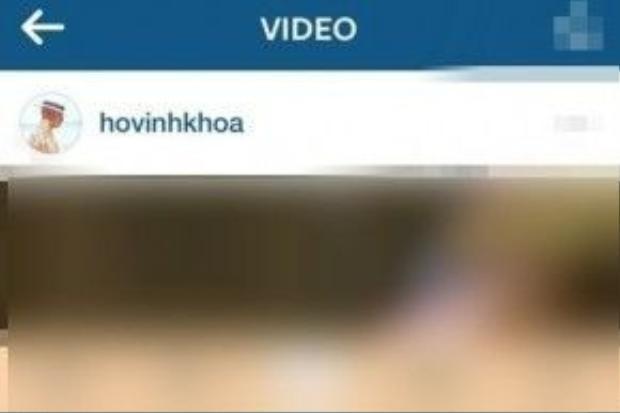 Hình ảnh chụp lại đoạn clip ngắn khá nhạy cảm của Hồ Vĩnh Khoa trên trang Instagram cá nhân.