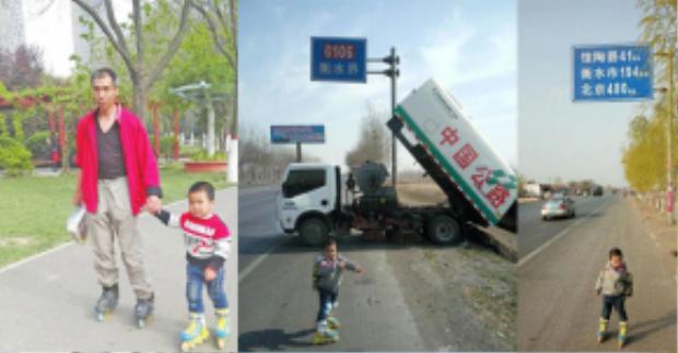 Hai cha con đã cùng nhau thực hiện hành trình 540km từ quê nhà Hà Nam lên thủ đô Bắc Kinh