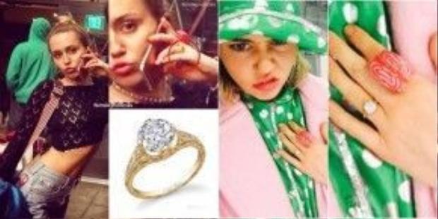 Dễ dàng nhận thấy chiếc nhẫn đính hôn nằm chễm chệ trên tay của cô nàng trong thời gian gần đây. Đâu phải tự dưng mà cô ấy đeo nó, đúng không nào?