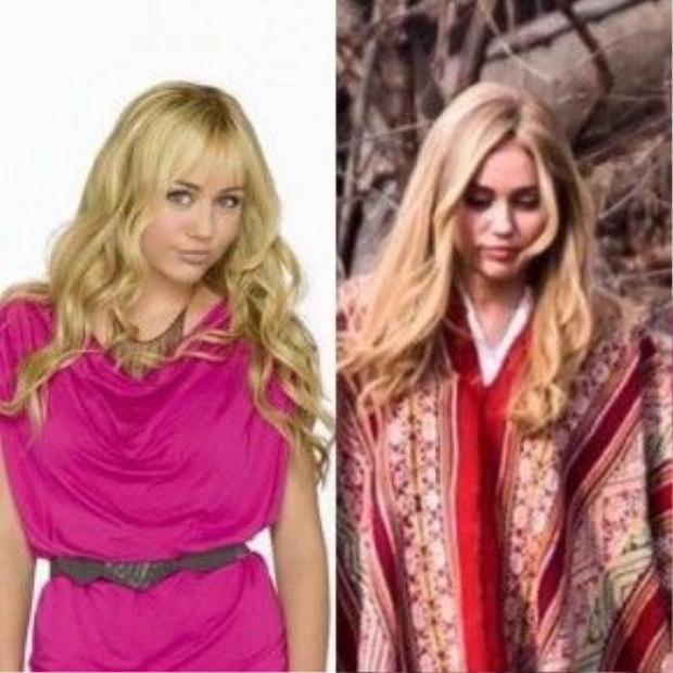 Khiến không ít khán giả hồi tưởng lại Miley thời Hannah Montana.