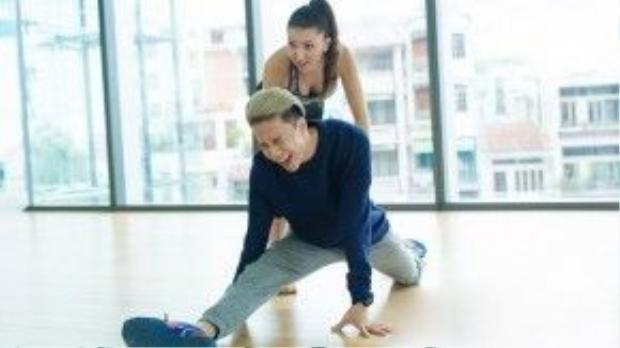 Hình ảnh tập luyện đau đớn của S.T khi mới bắt đầu làm quen với Dancesport.