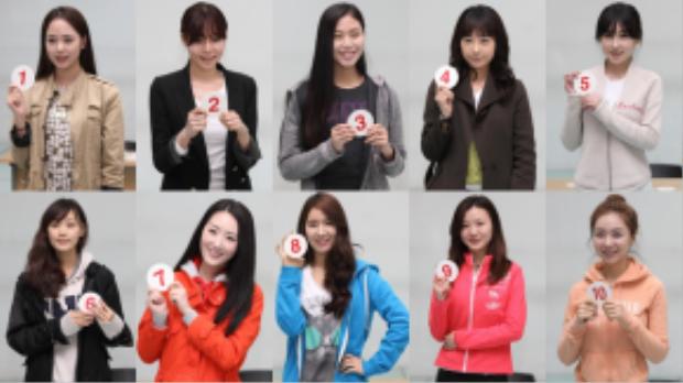 Đây là khuôn mặt mộc của các thí sinh Hoa hậu Hàn Quốc 2013. Trông họ rất khác nhau.