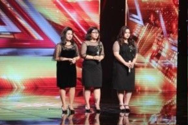 Sự xuất hiện của 3 cô nàng trên sân khấu đã khiến khán giả và giám khảo vô cùng phấn khích.