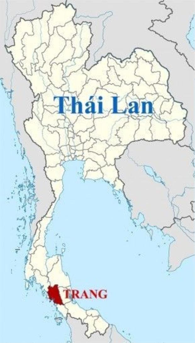 Vị trí của Trang nằm ở phía Nam Thái Lan, rất gần với đường biên giới giáp Malaysia.