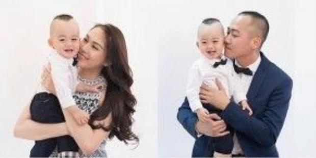 Mới đây, siêu mẫu Ngọc Thạch đã chia sẻ những khoảnh khắc đáng yêu của con trai trong bộ ảnh kỷ niệm Ricky tròn 1 tuổi.
