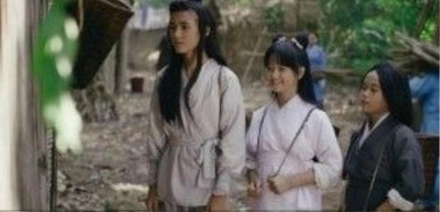 Một số hình ảnh trong phim. Trong ảnh: hai diễn viên nhí Thịnh Vinh, Thanh Mỹ.