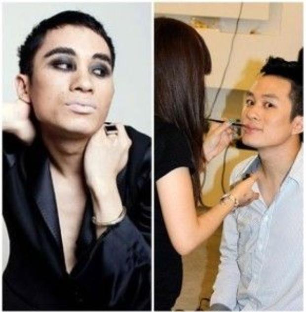 Giám khảo X factor 2016, Tùng Dương nổi tiếng với gu âm nhạc và thời trang vô cùng khác lạ, nên sẽ không còn quá ngạc nhiên nếu anh chàng trông ấn tượng quá mức với tông make khói đen.