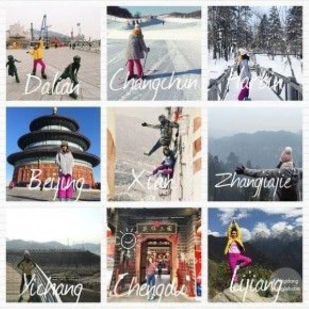 Khánh Linh đãđi qua 8 tỉnh và 12 thành phố ở Trung Quốc trong 60 ngày.