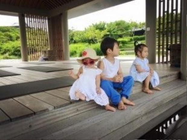 Ba nhóc tỳ nhà Lý Hải - Minh Hà.
