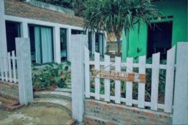 Đây là khu nhà gỗ xinh xắn mà Phương Anh đã lưu trú.
