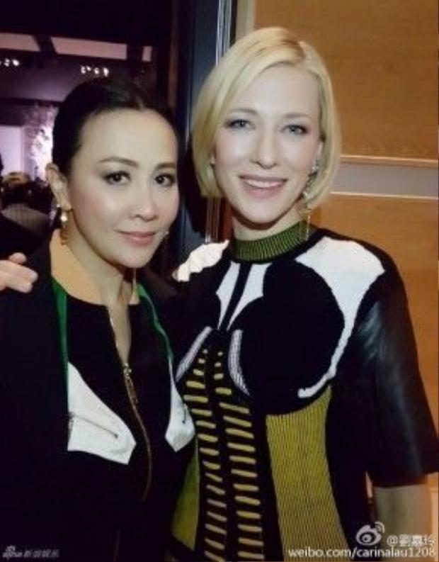 Lưu Gia Linh và Cate Blanchett.