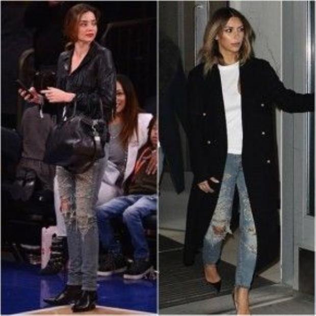 Chiếc quần jean rách huyền thoại của Saint Laurent được rất nhiều những ngôi sao trên thế giới chọn mặc.
