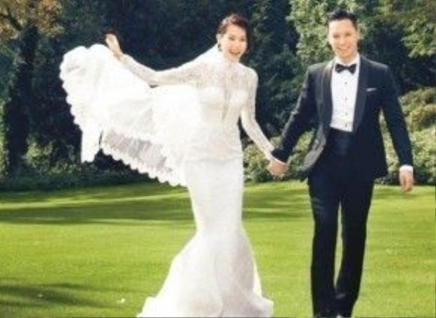 Hồ Hạnh Nhi và chồng - Philip Lee.