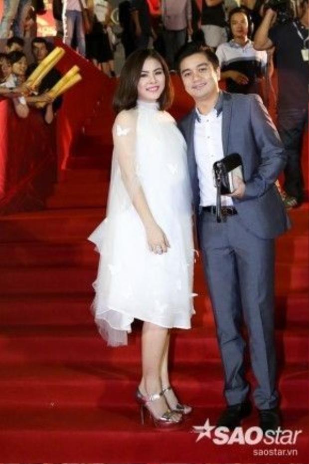 Vợ chồng diễn viên Vân Trang.