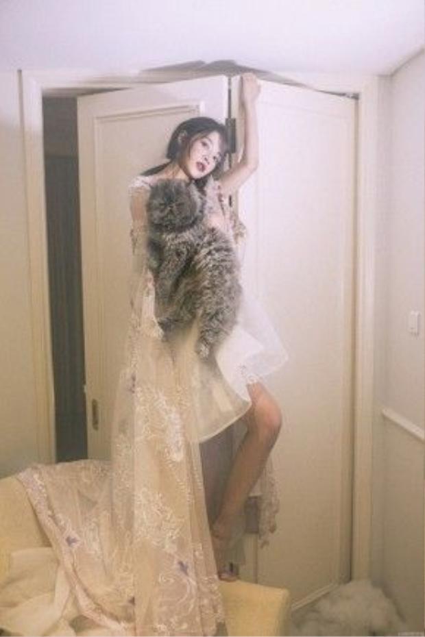 Với phong cách trang điểm quyến rũ và biểu cảm cuốn hút, Chi Pu thể hiện sự chuyên nghiệp trong thần thái cùng những shot ảnh táo bạo, phá cách.