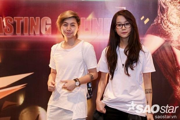 An Nguy cùng bạn gái đến casting The Face Vietnam