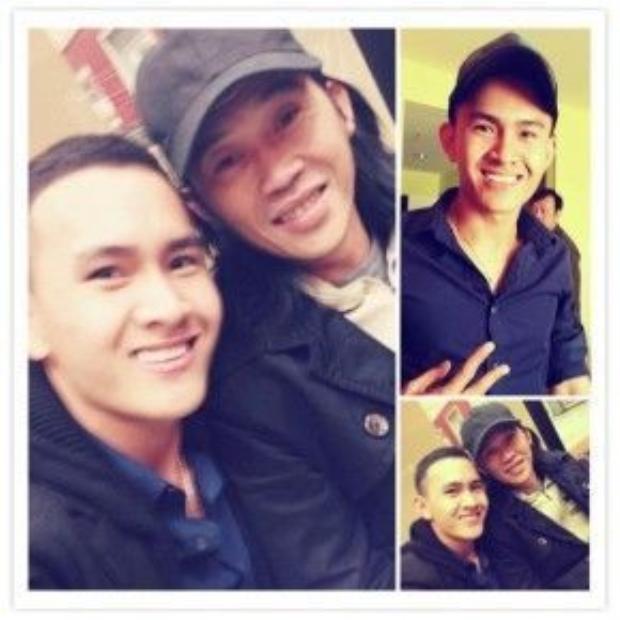 Ảnh chụp Thành Vinh cùng bố Hoài Linh trên trang cá nhân của anh.