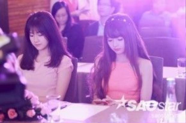 Hot girl Kiều Trinh khoe vẻ đẹp ngọt ngào tham dự sự kiện.