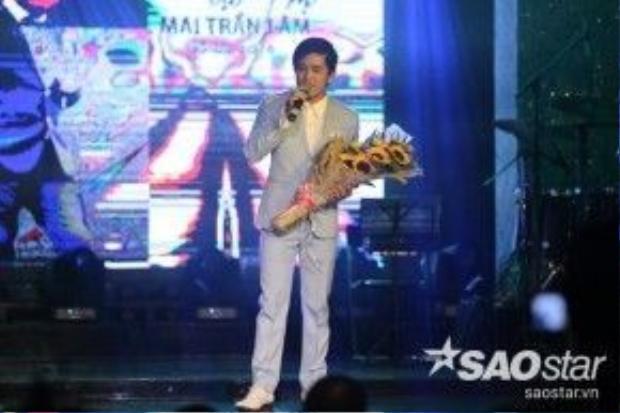 Mai Trần Lâm trong buổi họp báo ra mắt album đầu tay: Lá thư đô thị.