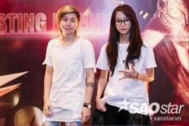 An Nguy và bạn gái cũng có mặt tại buổi casting