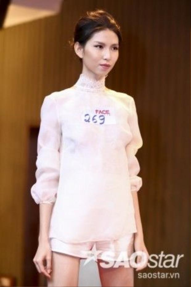 Thùy Dương Next Top Model cũng đầy tự tin casting tại The Face Vietnam