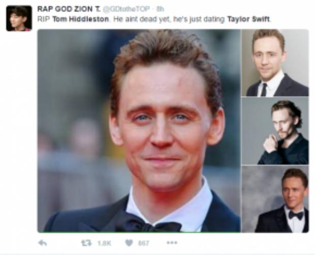 """""""Vĩnh biệt Tom Hiddleston, đối với tôi anh không còn trên cõi đời này nữa."""""""