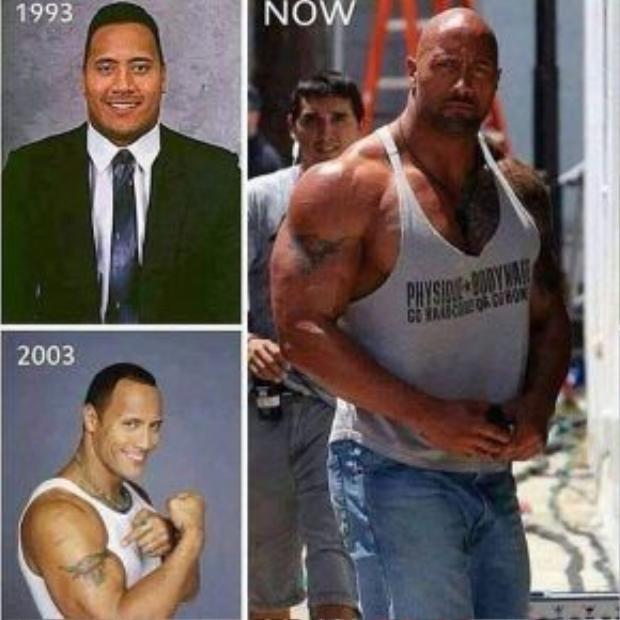 Dwayne Johnson cũng là một trong những tín đồ của phòng gym. Trải qua nhiều năm chăm chỉ luyện tập anh đã trở thành một trong những diễn viên có hình thể đẹp nhất Hollywood