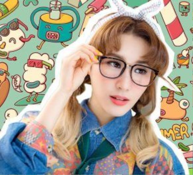 Lối makeup Hàn Quốc dễ thương, nữ tính với chút hồng trên gò má cùng những nốt tàn nhang