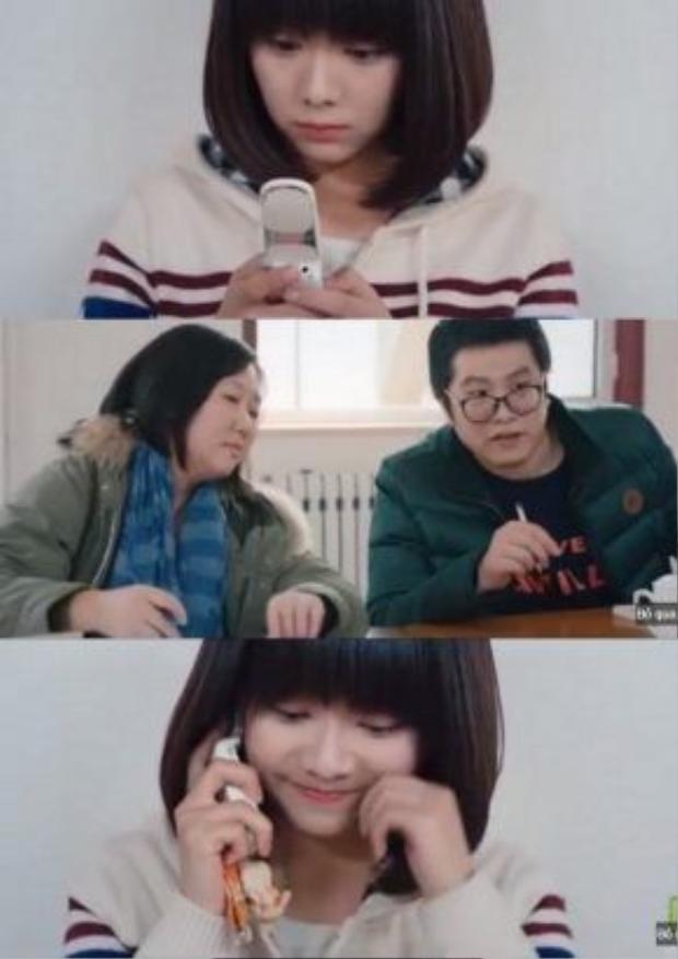 Cảnh Cảnh nhận ngay cuộc điện thoại của Dư Hoài, và cô quên luôn là mình đang dự thi. Những tình cảm chân thành của cô với Dư Hoài đã khiến cho các giám khảo chấm thi nhầm tưởng là cô đang diễn xuất.