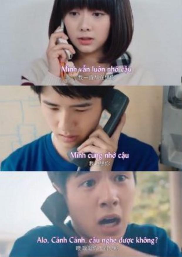 Cuối cùng thì Cảnh Cảnh và Dư Hoài cũng đã liên lạc được với nhau và dành cho nhau những động viên ngọt ngào, dù ngắn ngủi.