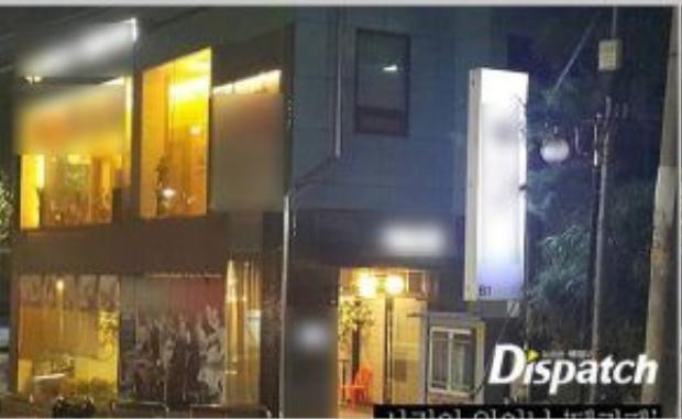 Yoochun và quán bar nơi xảy ra vụ việc.