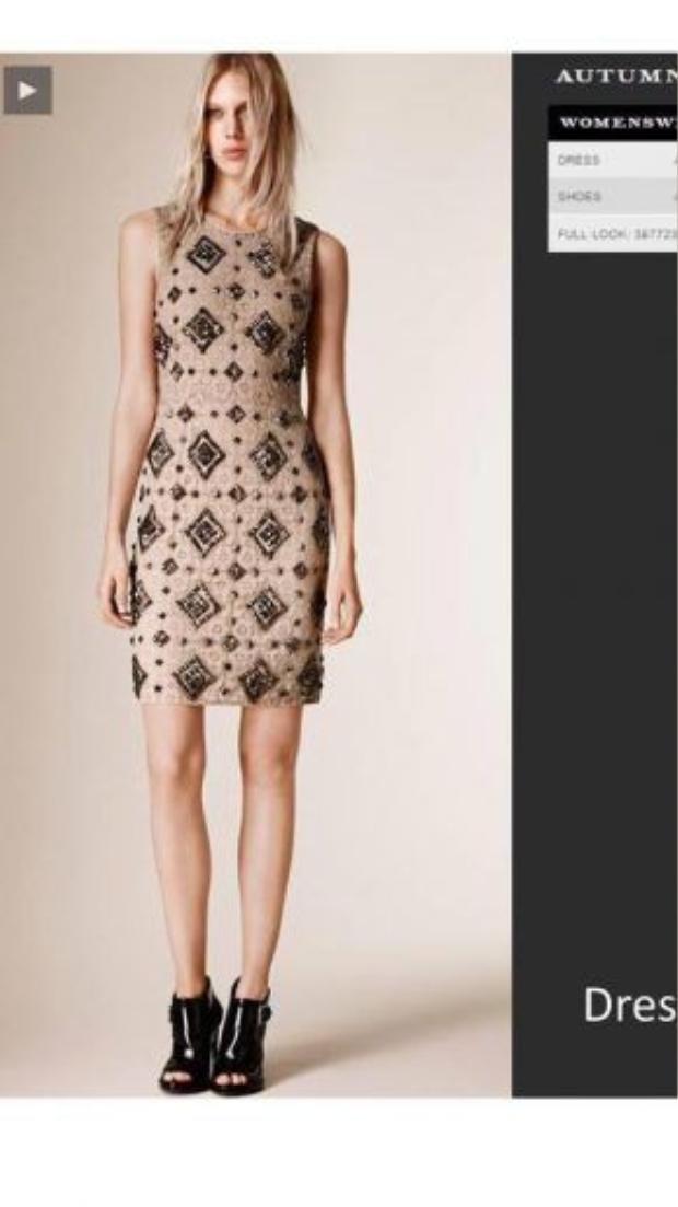 Khi so với phiên bản trên trang web chính thức, có thểcả hai người đẹp đều khá sáng tạo và tinh tế khi mix&match chiếc đầm này.