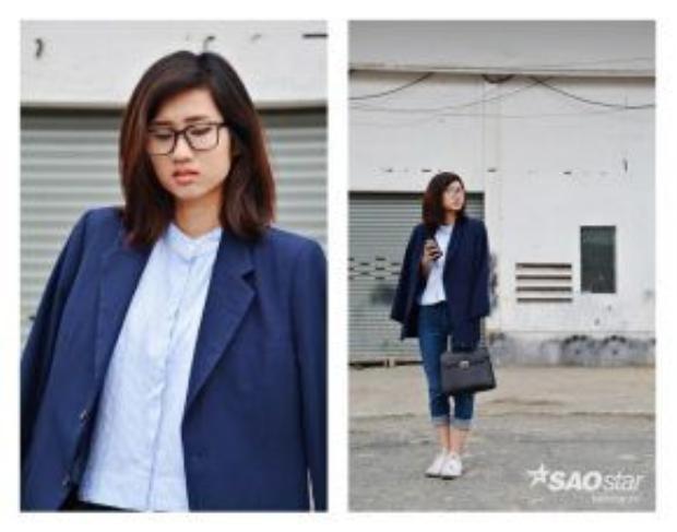 Minimal Chic hiện đang là phong cách khiến nhiều cô gái theo đuổi. Ngoài tông đen trắng, xanh navy cũng là tông màu hot nhất hè này.