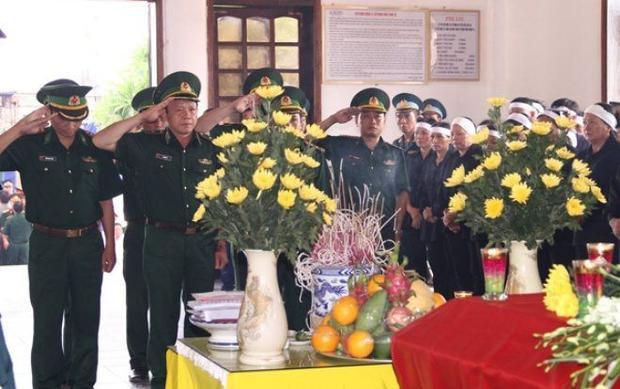 Toàn cảnh lễ truy điệu đại tá Trần Quang Khải tại Nghệ An