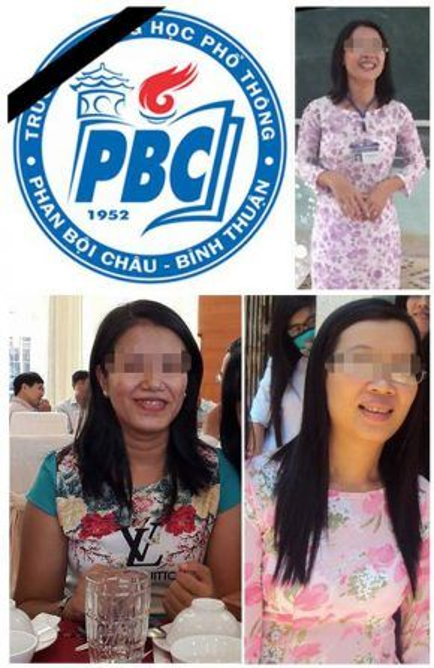 Hình ảnh 3 cô giáo tử nạn trong vụ tai nạn thảm khốc. Nguồn: fanpage THPT Phan Bội Châu.