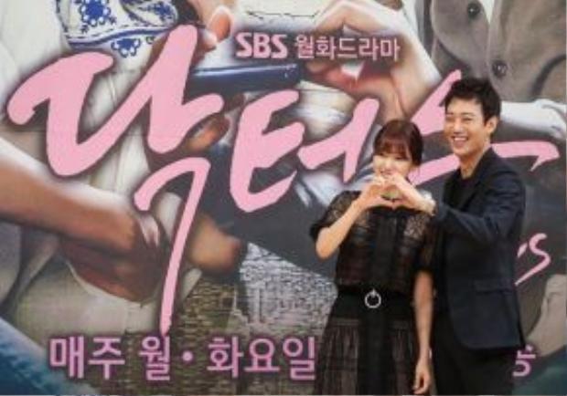 2 ngôi sao chính của phim Park Shin Hye và Kim Rae Won. Ảnh:TV