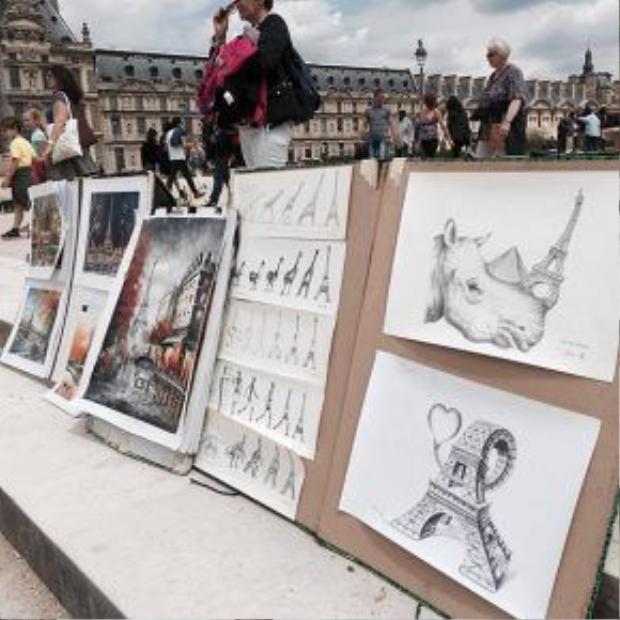 Những khoảnh khắc đẹp mà Kỳ Duyên ghi lại khi khám phá Paris.