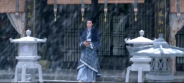 Mở đầu đoạn trailer là hình ảnh chàng thiếu gia Cố Xạ xuất hiện trong bộ đồ cổ trang xanh lam giữa trời tuyết giăng đầy.