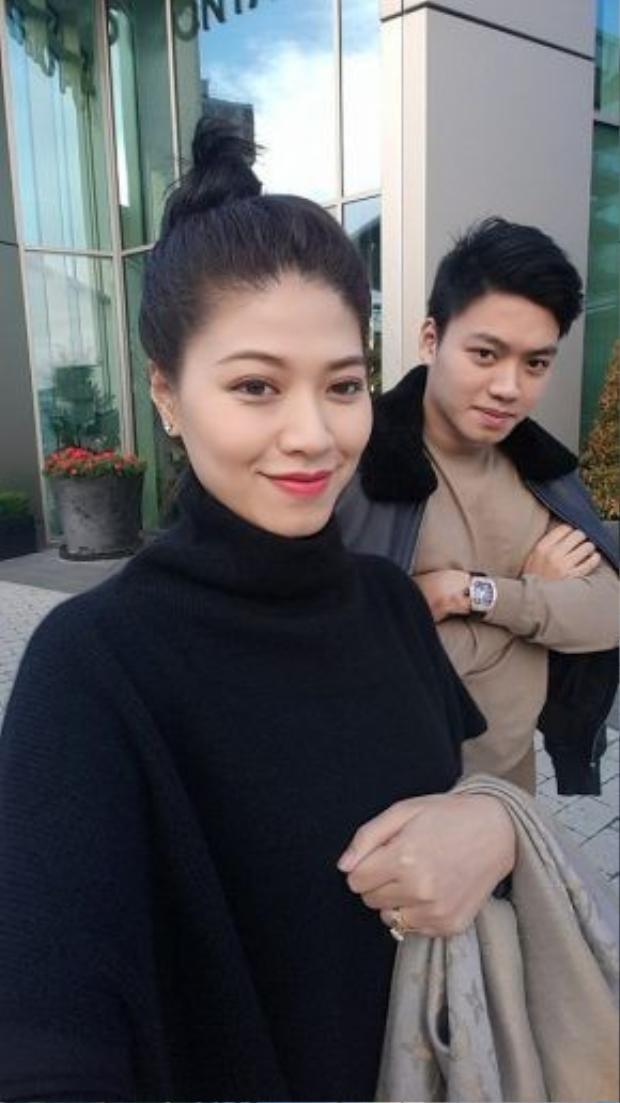 """Bạn trai hiện tại của Tú Anh tên là Dương Bảo Hưng - em trai BTV Ngọc Trinh """"Chuyển động 24h""""."""