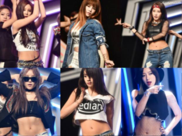 Tạo hình cá tính của T-ara khi quảng bá Sugar Free.
