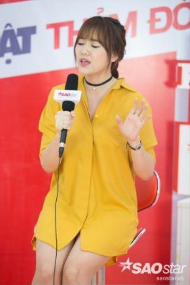 Hari Won ngẫu hứng hát lại Anh cứ đi đi.