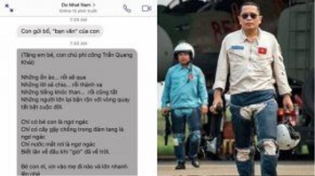 Bài thơ gây xúc động của Đỗ Nhật Nam gửi tặng con gái liệt sĩ, phi công Trần Quang Khải.