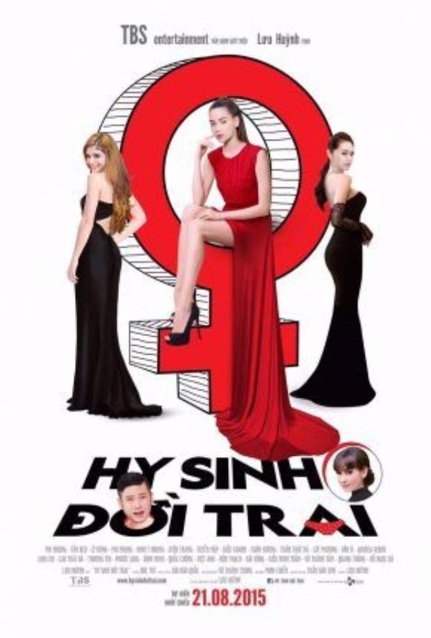 Hồ Ngọc Hà từ vai phụ được lên trung tâm chính của poster.